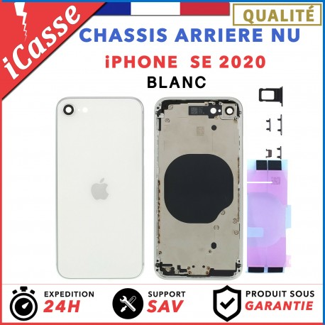 Chassis Arriere pour iPhone SE 2020 Blanc - Chassis Coque nu + COLLE