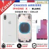 Chassis Arriere pour iPhone X BLANC Chassis Coque nu + COLLE