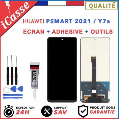 Ecran LCD Huawei P Smart 2021 PPA-LX1 PPA-LX2 / Y7a Noir + COLLE + Outils