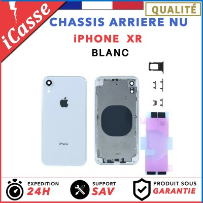 Chassis Arriere pour iPhone XR Blanc - Chassis Coque nu + COLLE