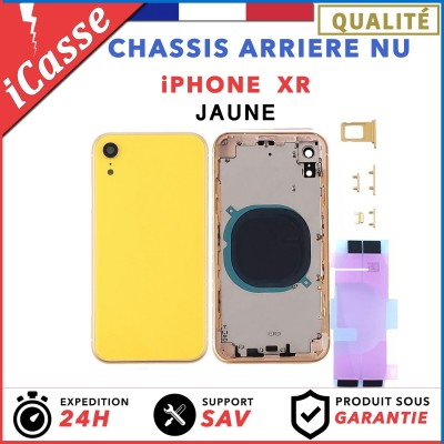 Chassis Arriere pour iPhone XR Jaune (Yellow) - Chassis Coque nu + COLLE