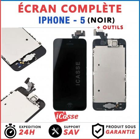 BLOC COMPLET ASSEMBLÉ VITRE TACTILE + ECRAN LCD RETINA IPHONE 5 NOIR