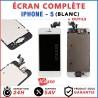 BLOC COMPLET ASSEMBLÉ VITRE TACTILE + ECRAN LCD RETINA IPHONE 5 BLANC