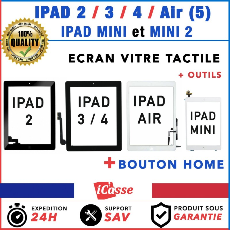 vitre ecran tactile pour ipad 2 3 4 ipad air ipad mini mini 2 ebay. Black Bedroom Furniture Sets. Home Design Ideas