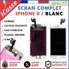 BLOC COMPLET TOUT ASSEMBLÉ VITRE TACTILE + ECRAN LCD RETINA IPHONE 6 BLANC