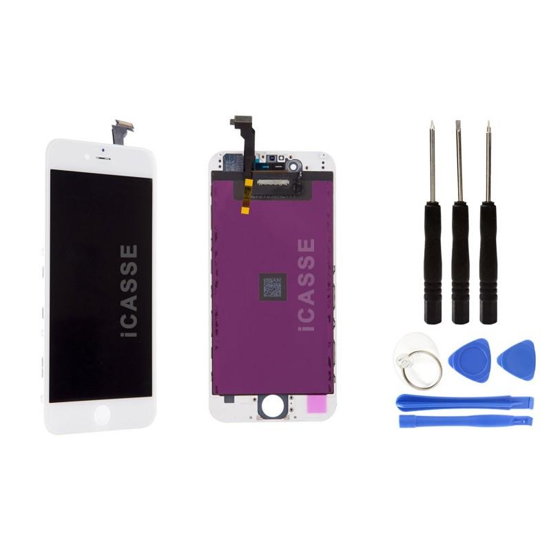 ECRAN LCD IPHONE 6S PLUS RETINA SUR CHASSIS VITRE TACTILE NOIR BLANC OUTIL CHOIX