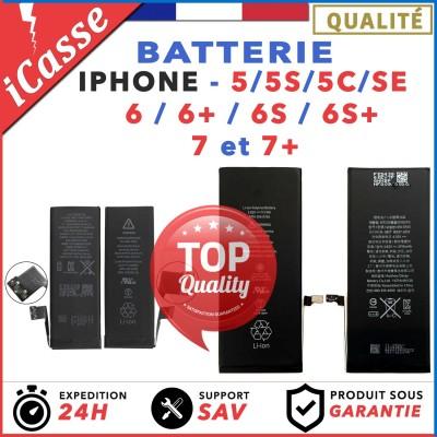 BATTERIE INTERNE NEUVE POUR IPHONE 5 / 5S / 5C / SE / 6 / 6+ / 6S+ / 7 / 7+