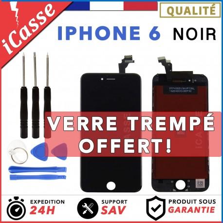 VITRE TACTILE IPHONE 6 NOIR + ECRAN LCD RETINA SUR CHASSIS + OUTILS