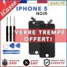 VITRE TACTILE IPHONE 5 NOIR + ECRAN LCD RETINA SUR CHASSIS + OUTILS