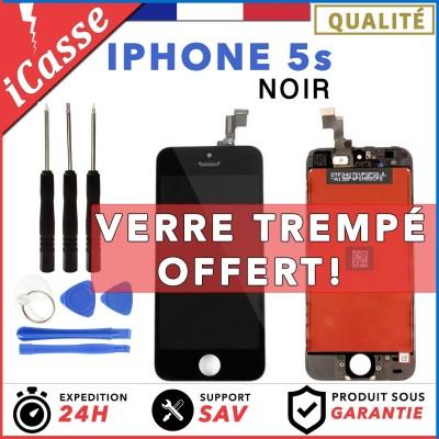 ÉCRAN LCD DALLE AVEC CHASSIS POUR IPHONE 5S NOIR VITRE TACTILE + OUTILS