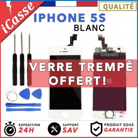 ÉCRAN LCD DALLE AVEC CHASSIS POUR IPHONE 5S BLANC VITRE TACTILE + OUTILS