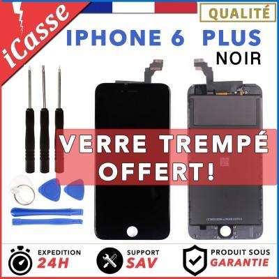VITRE TACTILE + ECRAN LCD RETINA IPHONE 6 PLUS NOIR + OUTILS