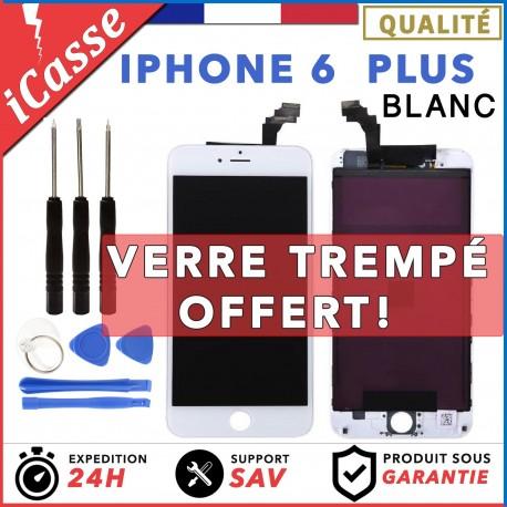 VITRE TACTILE + ECRAN LCD RETINA IPHONE 6 PLUS BLANC + OUTILS