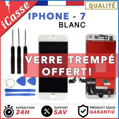 VITRE TACTILE + ECRAN LCD RETINA ASSEMBLE SUR CHASSIS POUR IPHONE 7 BLANC