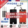VITRE TACTILE + ECRAN LCD RETINA POUR IPHONE SE NOIR + OUTILS
