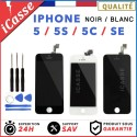 VITRE TACTILE IPHONE 5S / 5C / 5 / 5 SE + ECRAN LCD SUR CHASSIS Grade AAA