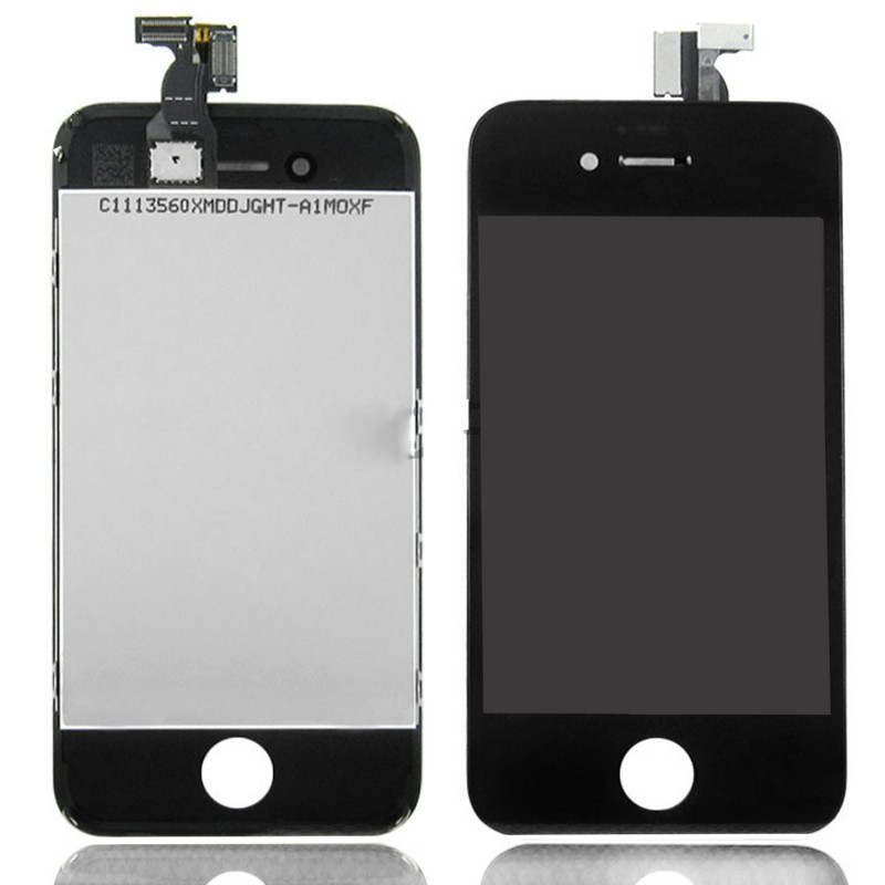 vitre tactile ecran lcd retina sur chassis iphone 4 4s noir ou blanc outil ebay. Black Bedroom Furniture Sets. Home Design Ideas