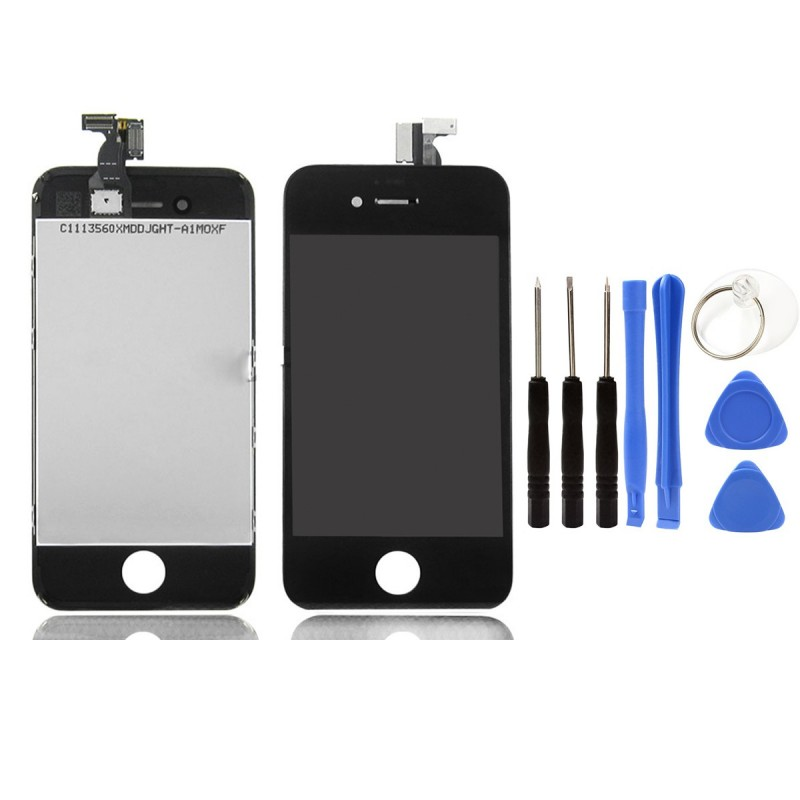Vitre tactile ecran lcd retina sur chassis iphone 4 4s for Ecran photo iphone noir