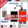 VITRE TACTILE + ECRAN LCD RETINA SUR CHASSIS IPHONE 4 BLANC + OUTILS