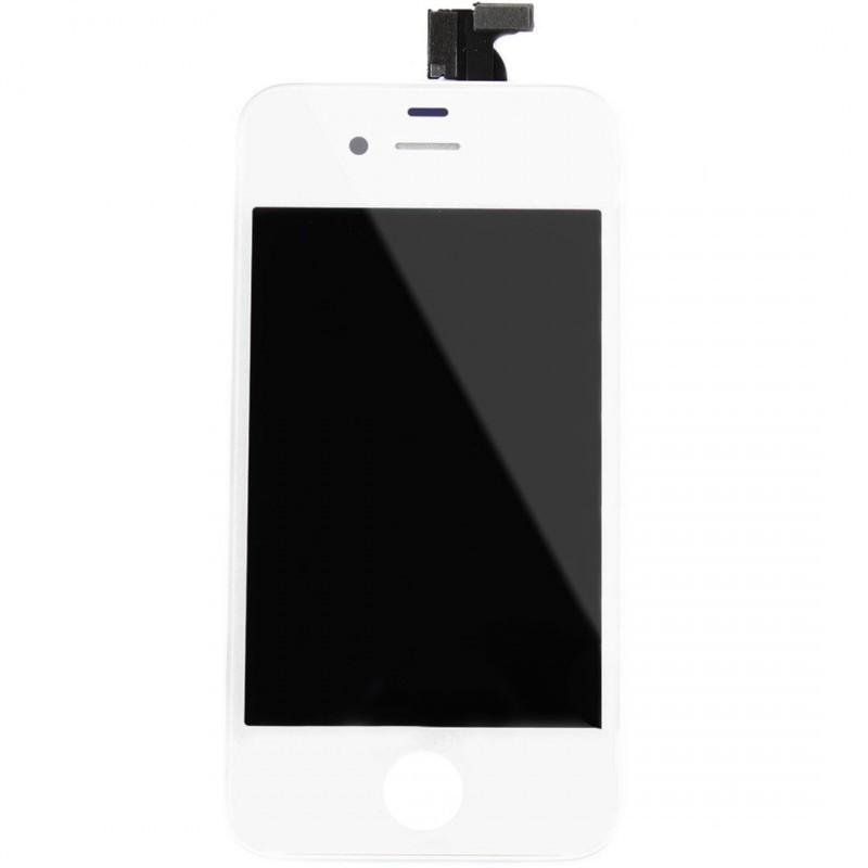 vitre tactile ecran lcd retina sur chassis iphone 4s blanc outils icasse pi ces et. Black Bedroom Furniture Sets. Home Design Ideas