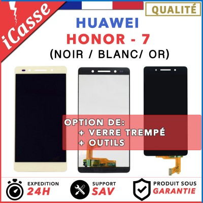 ÉCRAN COMPLET POUR HUAWEI HONOR 7 VITRE TACTILE + ÉCRAN LCD NOIR BLANC OU OR