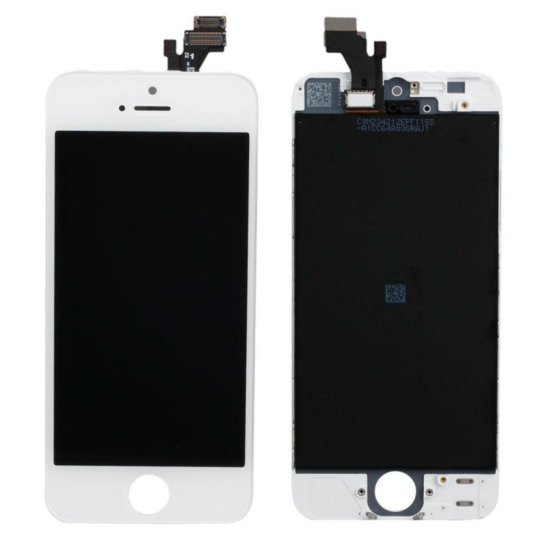 vitre tactile iphone 5 blanc ecran lcd retina sur chassis outils icasse pi ces et outils. Black Bedroom Furniture Sets. Home Design Ideas