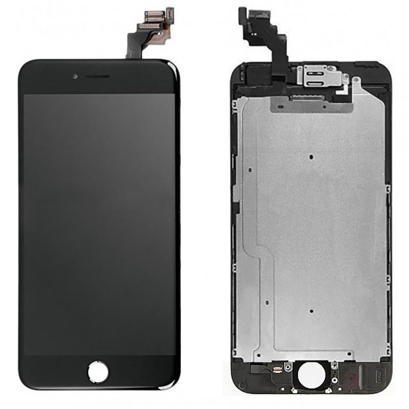 bloc complet tout assembl vitre tactile ecran lcd iphone 6 plus noir icasse pi ces et. Black Bedroom Furniture Sets. Home Design Ideas