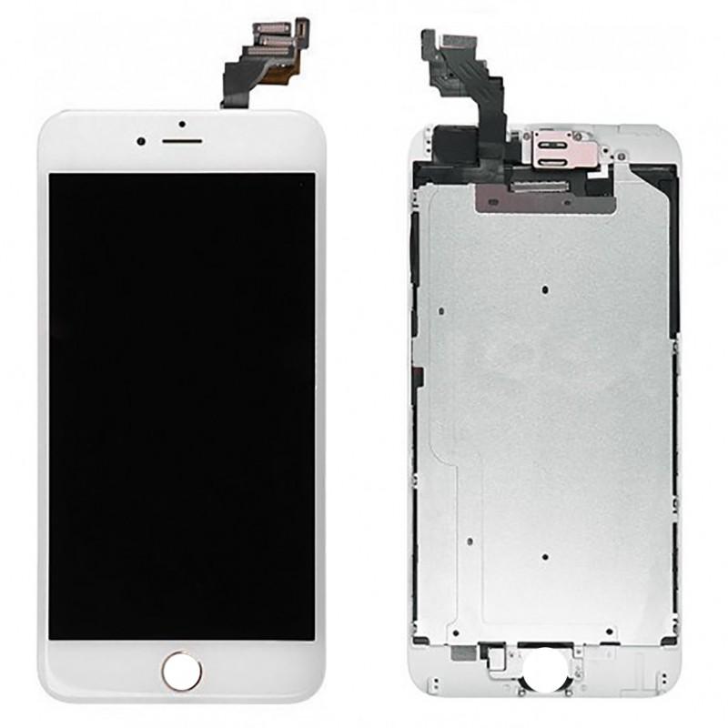 bloc complet tout assembl vitre tactile ecran lcd iphone 6 plus blanc icasse pi ces et. Black Bedroom Furniture Sets. Home Design Ideas