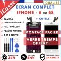 ECRAN COMPLETE POUR IPHONE 6 ou 6S NOIR / BLANC VITRE TACTILE SUR CHASSIS