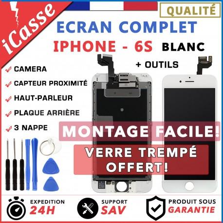 ECRAN LCD POUR IPHONE 6 ou 6S NOIR / BLANC COMPLET VITRE TACTILE SUR CHASSIS AAA