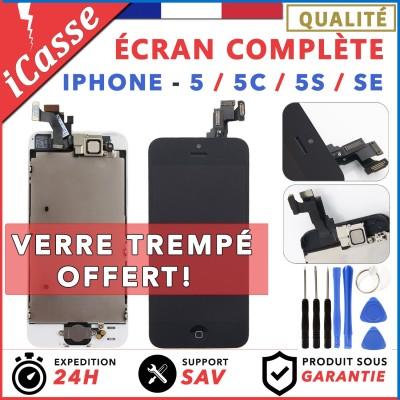 ECRAN COMPLET IPHONE 5 / 5C / 5S / SE VITRE TACTILE + LCD BLOC COMPLET