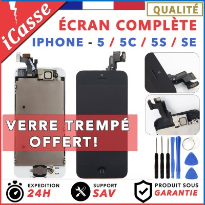 AAA ECRAN COMPLET IPHONE 5 / 5C / 5S / SE VITRE TACTILE + LCD BLOC COMPLET