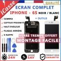 VITRE TACTILE + ECRAN LCD COMPLET IPHONE 6S NOIR/BLANC + OUTILS