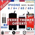 Ecran LCD iPhone 6 6s 6+ 6S+ /Plus Noir Blanc Vitre Tactile sur Châssis
