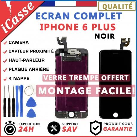BLOC COMPLET TOUT ASSEMBLÉ VITRE TACTILE + ECRAN LCD IPHONE 6 PLUS NOIR