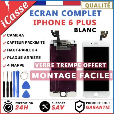 BLOC COMPLET TOUT ASSEMBLÉ VITRE TACTILE + ECRAN LCD IPHONE 6 PLUS BLANC